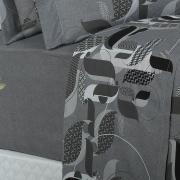Jogo de Cama Queen Percal 180 fios - Luther Cinza - Dui Design