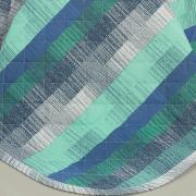 Enxoval Solteiro com Cobre-leito 5 peças Percal 180 fios - Luzon Azul - Dui Design