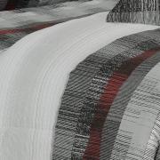 Enxoval Casal com Edredom 5 peças Percal 180 fios - Luzon Cinza - Dui Design