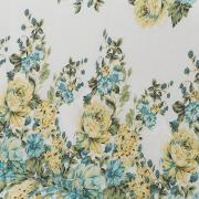 Edredom Solteiro Percal 200 fios - Madalena Azul - Dui Design