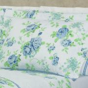 Kit: 1 Cobre-leito King + 2 Porta-travesseiros 150 fios - Madeleine Porcelana - Dui Design