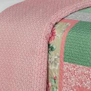 Kit: 1 Cobre-leito King Bouti de Microfibra Ultrasonic Estampada + 2 Porta-travesseiros - Madeleine Rosa - Dui Design