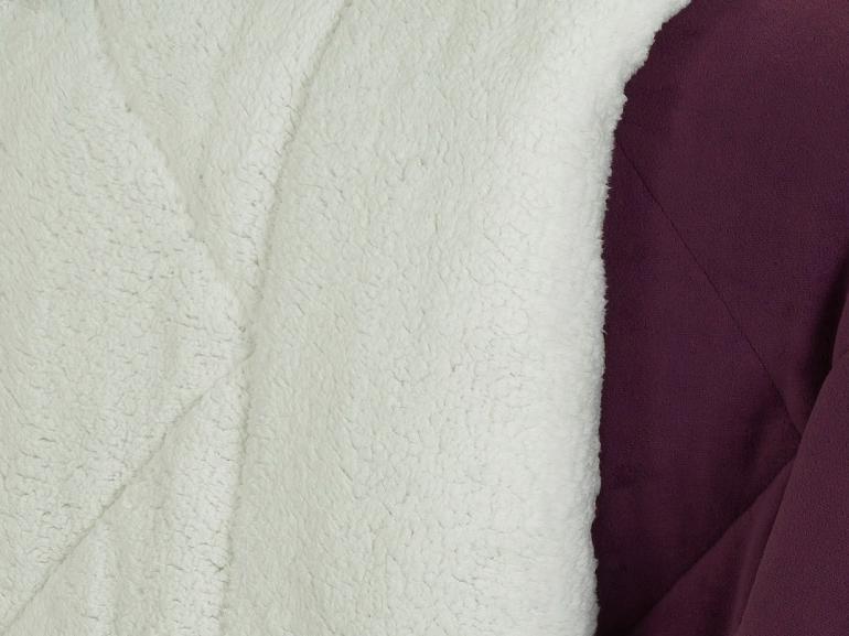 Edredom Casal Pele de Carneiro e Plush - Sherpa Madrid Ameixa - Dui Design
