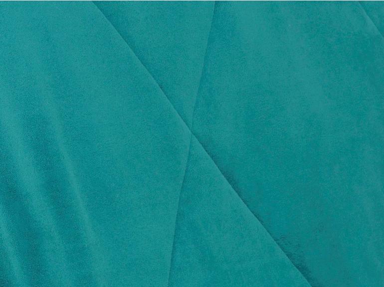 Edredom Solteiro Pele de Carneiro e Plush - Sherpa Madrid Azul Porto - Dui Design