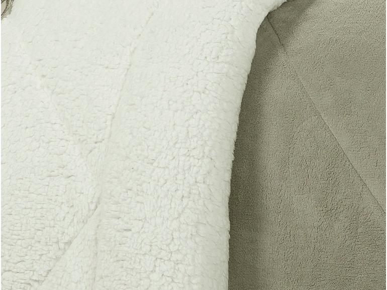 Edredom Solteiro Pele de Carneiro e Plush - Sherpa Madrid Bege - Dui Design
