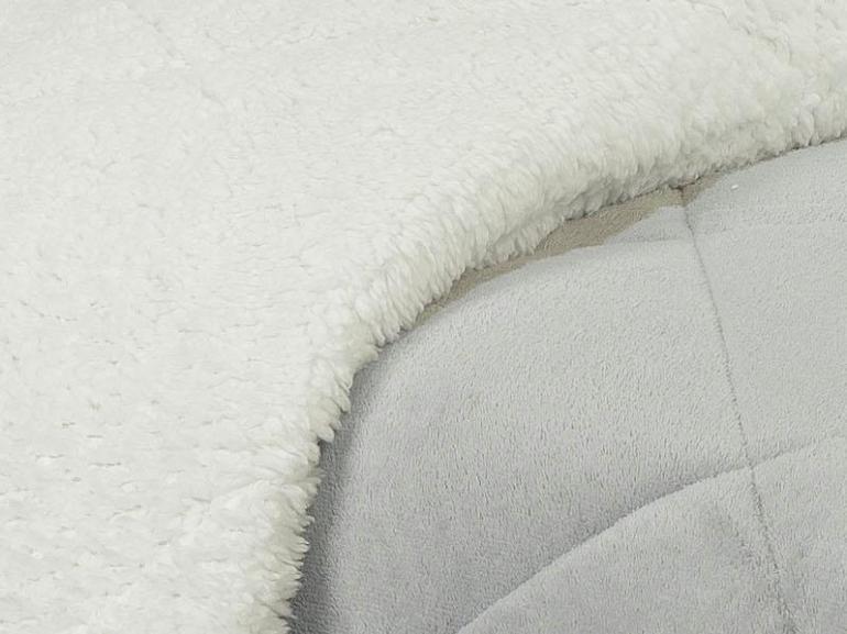 Edredom King Pele de Carneiro e Plush - Sherpa Madrid Cinza Prata - Dui Design