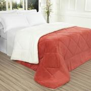 Edredom King Pele de Carneiro e Plush - Sherpa Madrid Rosa Brick - Dui Design