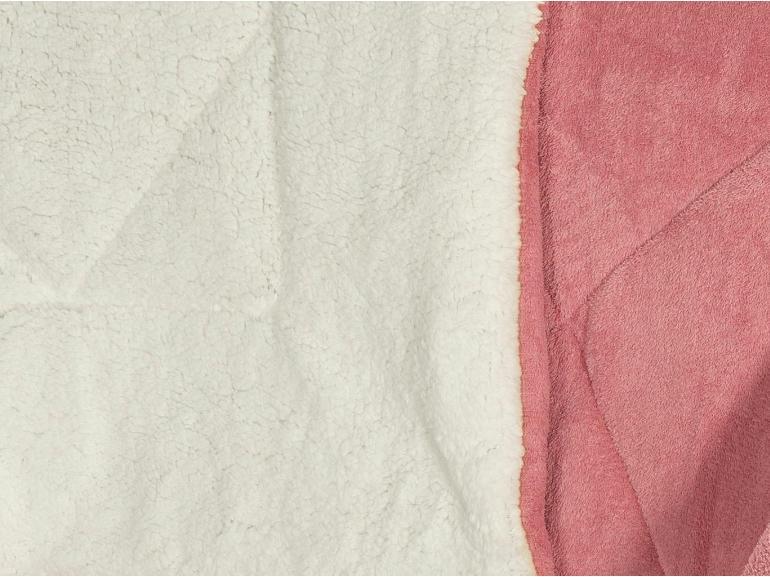 Edredom Casal Pele de Carneiro e Plush - Sherpa Madrid Rosa Velho - Dui Design