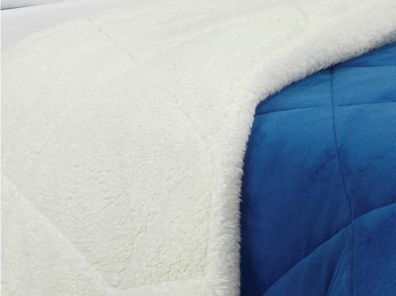 Edredom King Pele de Carneiro e Plush - Sherpa Madrid Royal - Dui Design