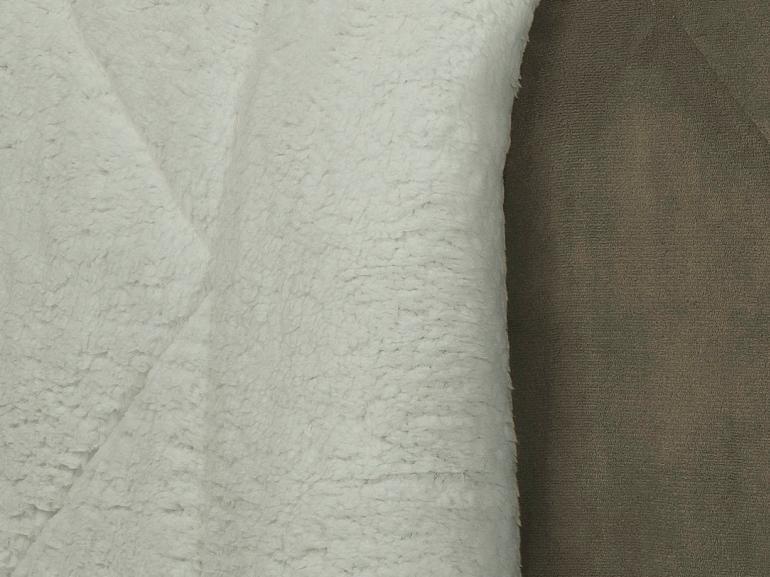 Edredom King Pele de Carneiro e Plush - Sherpa Madrid Taupe - Dui Design