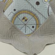 Kit: 1 Cobre-leito Casal Bouti de Microfibra Ultrasonic Estampada + 2 Porta-travesseiros - Magnus Stone - Dui Design