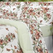 Jogo de Cama Queen Percal 200 fios - Maili Carmim - Dui Design