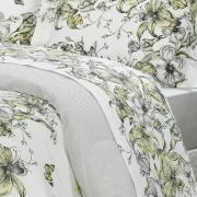 Edredom Solteiro Percal 200 fios - Maili Cinza - Dui Design