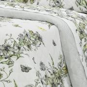Kit: 1 Cobre-leito Solteiro + 1 Porta-travesseiro Percal 200 fios - Maili Cinza - Dui Design