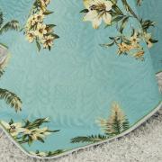 Kit: 1 Cobre-leito Queen Bouti de Microfibra Ultrasonic Estampada + 2 Porta-travesseiros - Maldivas Acqua - Dui Design