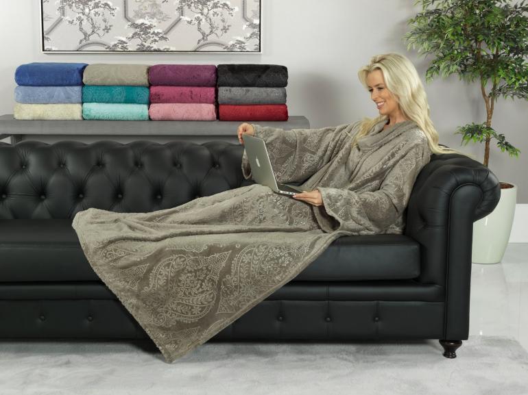 Manta com Mangas Flanelada 250 gramas/m² - Allure - Dui Design