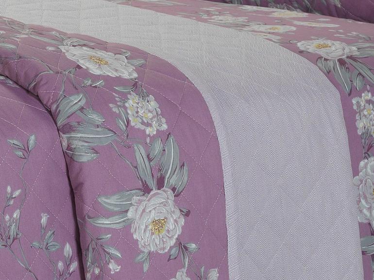 Kit: 1 Cobre-leito Queen + 2 Porta-travesseiros 180 fios - Mara Uva - Dui Design