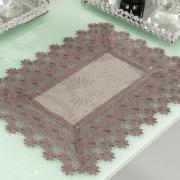 Jogo Americano 4 Lugares (4 peças) com Bordado Guipir Fácil de Limpar 35x50cm - Margareth Noz Moscada - Dui Design