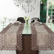 Trilho de Mesa com Bordado Guipir Fácil de Limpar 45x170cm Avulso - Margareth Noz Moscada - Dui Design