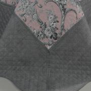 Kit: 1 Cobre-leito King Bouti de Microfibra Ultrasonic Estampada + 2 Porta-travesseiros - Margot Rosa - Dui Design