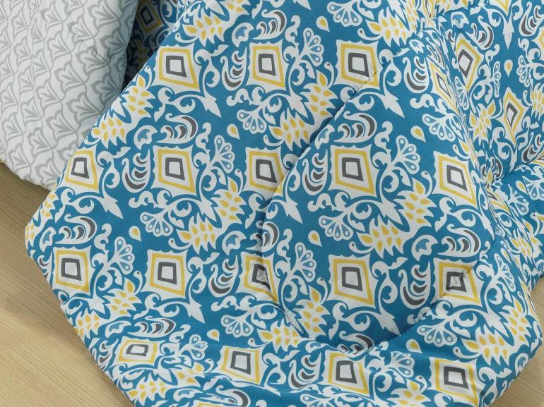 Kit: 1 Cobre-leito Casal + 2 Portas-travesseiro 150 fios 100% Algodão - Maria Tereza - Teka