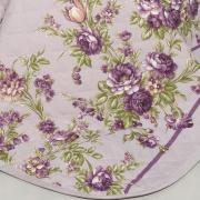 Kit: 1 Cobre-leito Solteiro + 1 Porta-travesseiro Percal 180 fios - Maria Uva - Dui Design