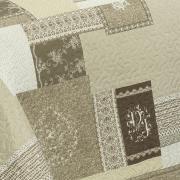 Kit: 1 Cobre-leito Solteiro Bouti de Microfibra Ultrasonic Estampada + 1 Porta-travesseiro - Mariana Bege - Dui Design