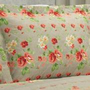 Kit: 1 Cobre-leito King + 2 Porta-travesseiros 150 fios - Mariana Linho - Dui Design