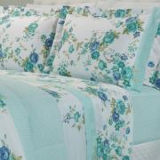 Jogo de Cama Queen Percal 180 fios - Mariela Azul - Dui Design