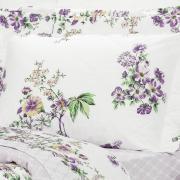 Kit: 1 Cobre-leito Solteiro + 1 Porta-travesseiro Percal 200 fios - Marieta Albergine - Dui Design