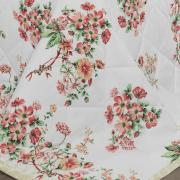 Kit: 1 Cobre-leito Solteiro + 1 Porta-travesseiro Percal 200 fios - Marieta Carmin - Dui Design