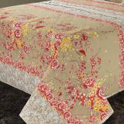 Kit: 1 Cobre-leito Solteiro + 1 Porta-travesseiro 150 fios 100% Algodão - Marina Bege - Dui Design