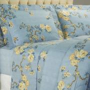 Jogo de Cama Queen Percal 180 fios - Marinez Azul - Dui Design