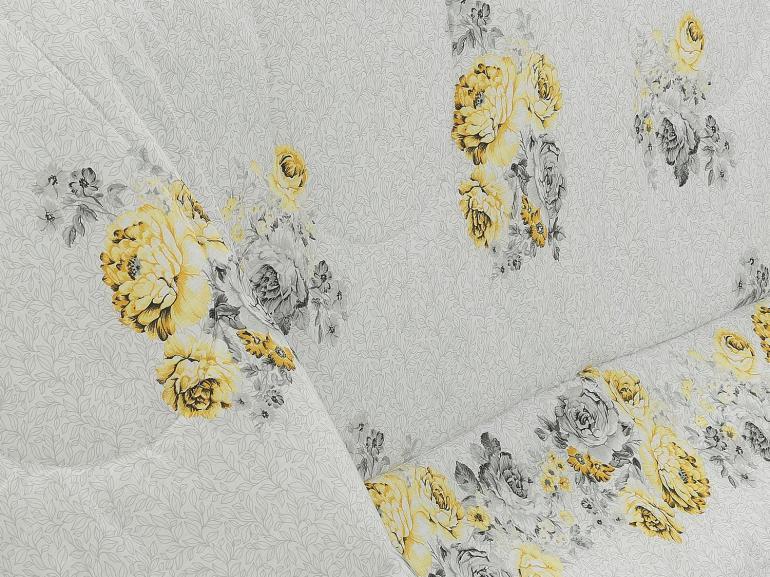 Jogo de Cama Queen Percal 180 fios - Maristela Amarelo - Dui Design