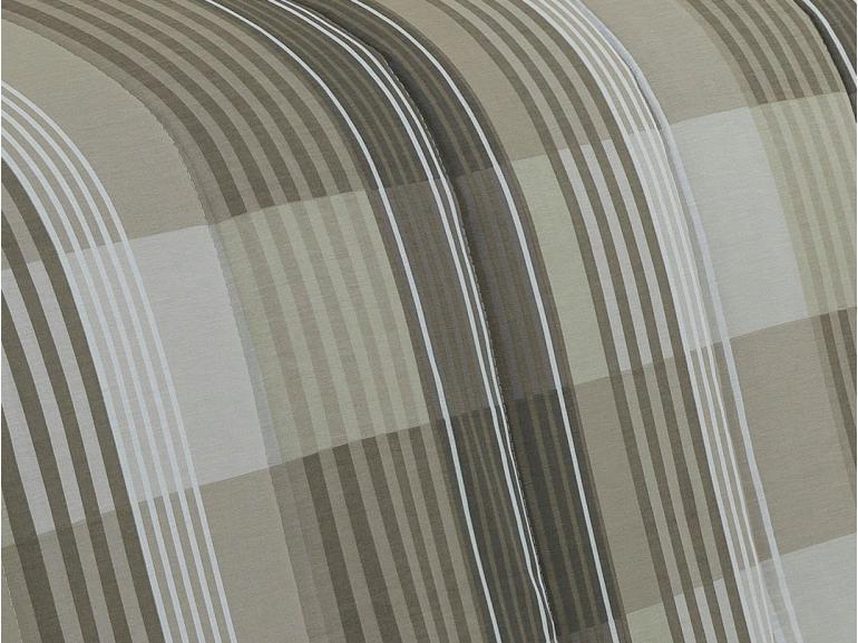 Jogo de Cama Queen Percal 180 fios - Marlon Taupe - Dui Design