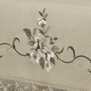 Toalha de Mesa com Bordado Richelieu Quadrada 8 Lugares 220x220cm - Mary Bege - Dui Design