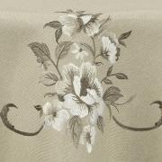 Toalha de Mesa com Bordado Richelieu Redonda 180cm - Mary Bege - Dui Design