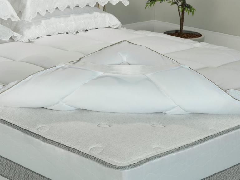 Pillow Top Queen Fibra Siliconizada Super Volumosa 1.000 gramas/m² - Master - Dui Design
