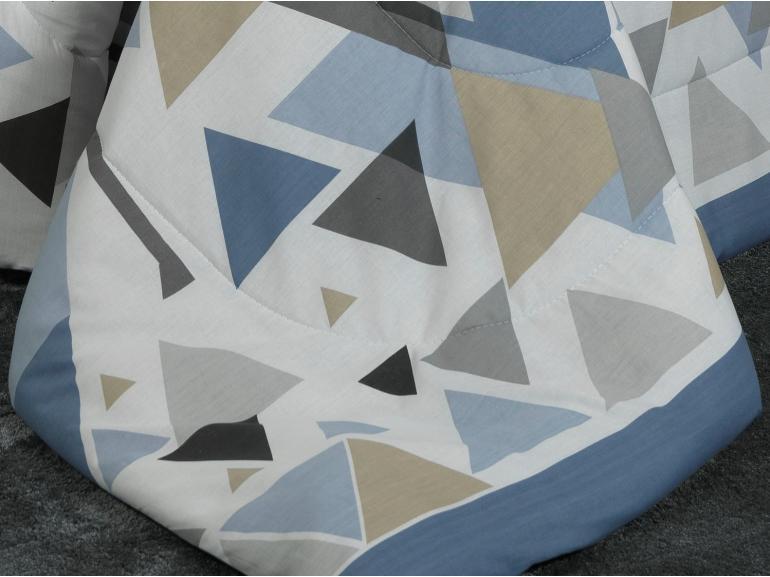 Jogo de Cama Queen 150 fios - Matheo Azul - Dui Design