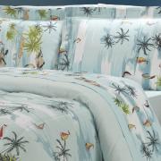 Jogo de Cama Queen 150 fios - Maui Azul - Dui Design