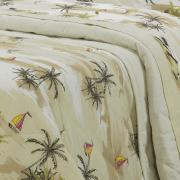 Kit: 1 Cobre-leito Queen + 2 Porta-travesseiros 150 fios - Maui Sephia - Dui Design