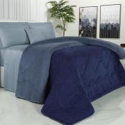 Edredom Casal Plush  - Maxy Marinho e Azul Stone - Dui Design