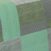 Kit: 1 Cobre-leito Casal Bouti de Microfibra Ultrasonic Estampada + 2 Porta-travesseiros - Maxime Verde - Dui Design