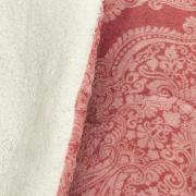 Edredom Solteiro Pele de Carneiro e Plush - Sherpa Maxini Rosa - Dui Design