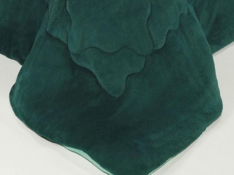 Edredom Solteiro Plush - Maxy Azul Petróleo e Turquesa - Dui Design