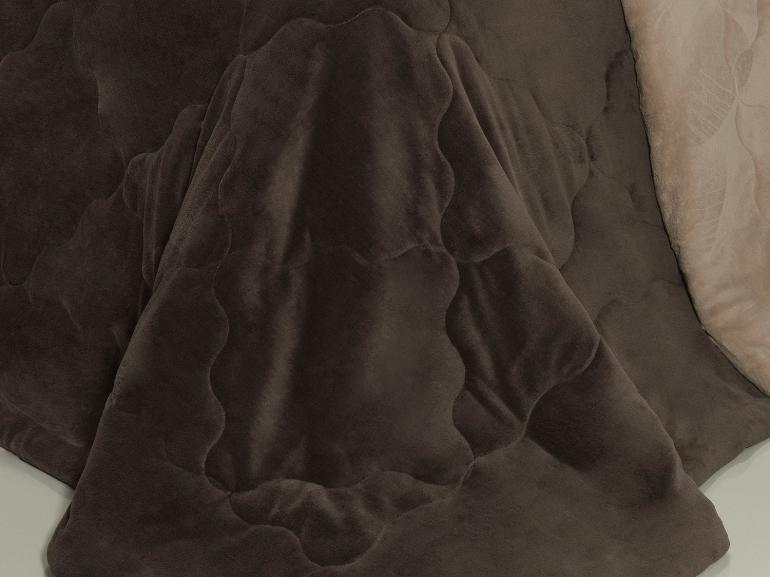 Edredom Plush Solteiro - Maxy Chocolate Amendoa - Dui Design