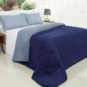 Edredom Solteiro Plush - Maxy Marinho e Azul Stone - Dui Design