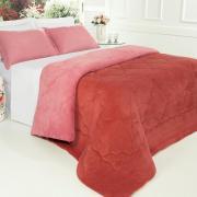 Edredom King Plush  - Maxy Rosa Brick e Rosa Velho - Dui Design