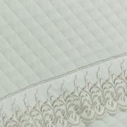 Enxoval King com Cobre-leito 7 peças Cetim de Algodão 300 fios com Bordado Inglês - Medici Branco Gelo - Dui Design
