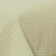 Kit: 1 Cobre-leito Queen Bouti de Microfibra Ultrasonic + 2 Porta-travesseiros - Mellini Marfim - Dui Design